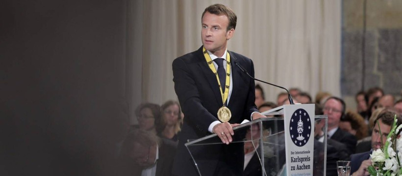 Macron-PrixCharlemagne