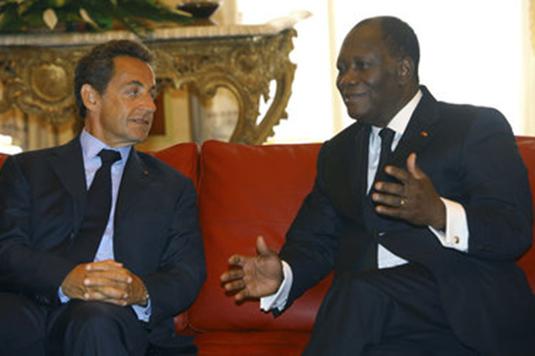 alassane ouattara sarkozy 23 fev 2014