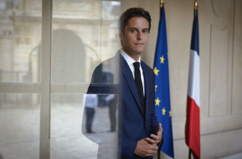 Paris (75), le 24 août 2021. Gabriel Attal, secrétaire d'État auprès du Premier ministre, Porte-parole du gouvernement.